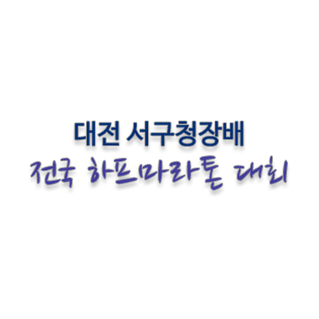 2017 대전서구청장배마라톤대회